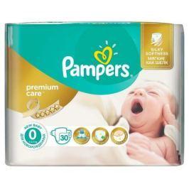 PAMPERS PREMIUM CARE 0 NEWBORN do 2,5kg dětské pleny 30ks