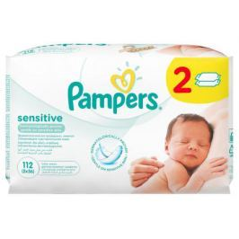 PAMPERS ubrousky Wipes Sensitive 2x56