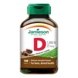 JAMIESON Vitamín D3 1000IU cucací Čokoláda tbl.100