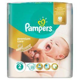 PAMPERS Premium Care 2 MINI 22ks (3-6kg) CARRY pack – dětské pleny