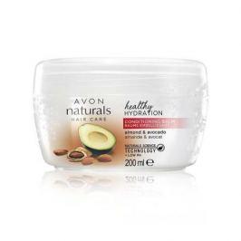 Avon Hydratační balzám na vlasy s mandlovým olejem a avokádem pro suché a poškozené vlasy Naturals 200 ml