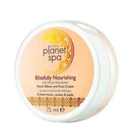Avon Vyživující krém na ruce, nohy a lokty s bambuckým máslem Planet Spa 75 ml