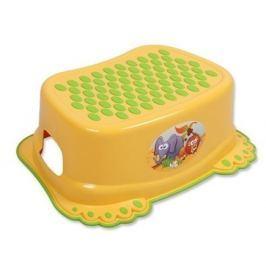Dětské protiskluzové stupátko do koupelny žluté