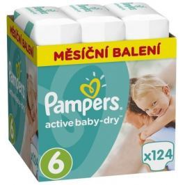 Pampers Active Baby Monthy Box S6 124ks