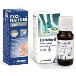 Exonailner Lak 2v1 5ml + Exoderil 10ml/100mg