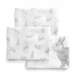 Mušelínové pleny velké 3 ks králíčci