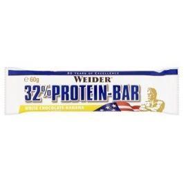 WEIDER, 32% Protein Bar, 60 g, Bílá Čokoláda-Banán