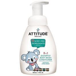 Dětské tělové mýdlo, šampon a kondicionér (3 v 1) s vůní hruškové šťávy - s pumpičkou 300 ml