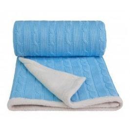 Pletená deka, modrá