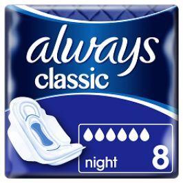 Always vložky Classic Night 8ks