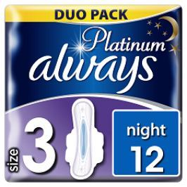 Always vložky Ultra Platinum Night Duo 12ks