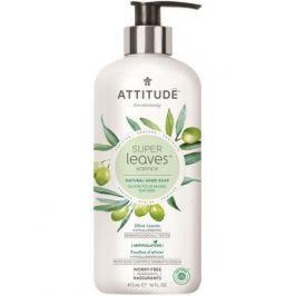 Přírodní mýdlo na ruce ATTITUDE Super leaves s detoxikačním účinkem - olivové listy 473 ml