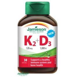 JAMIESON Vitamíny K2 120mcg a D3 1000 IU cps.30