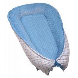 Hnízdečko pro miminko MINKY, white / blue dots