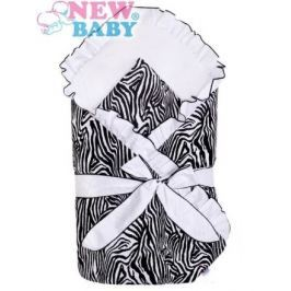 Zavinovačka s volánkem a mašlí New Baby Zebra bílo-černá