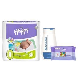 Bella Happy Before New Born dětské pleny 46 ks + Indulona 250ml a ubrousky 24ks