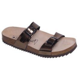Zdravotní boty pantofle 2002/M1 gold - Vel. 39