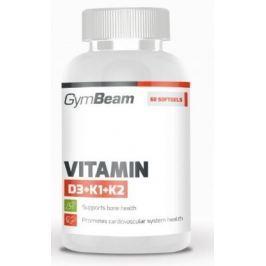 GymBeam Vitamin D3+K1+K2 unflavored - 60 kaps