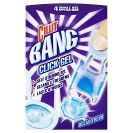 Cillit Bang WC Click gel 4 x 5 g, vůně oceán