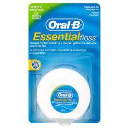 Oral-B Essential Floss Voskovaná dentální nit s mentolovou příchutí 50 m