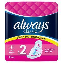 Always Classic Maxi hygienické vložky  9 ks/bal.