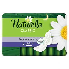 Naturella Camomile Classic night hygienické vložky s jemnou vůní 7 ks/bal.