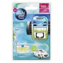 Ambipur Car3 Aqua odpařovací strojek do auta Fresh Escapes 7 ml