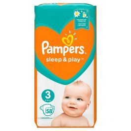 Pampers Sleep&Play pleny 3 Midi, 5-9 kg 58 ks