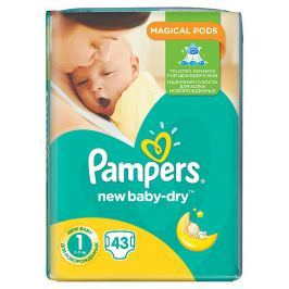 Pampers New Baby-Dry pleny 1 Newborn, 2-5 kg 43 ks