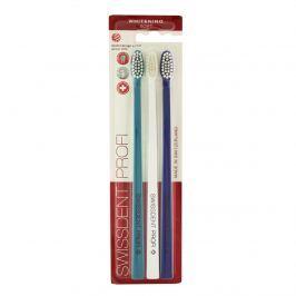 Swissdent Profi Whitening zubní kartáčky 3 ks, tyrkysový, bílý, tmavě modrý