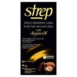 Strep depilační voskové pásky na tělo s arganovým olejem 20 ks