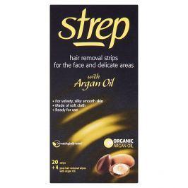 Strep voskové pásky pro depilaci tváře a oblasti bikin 20 ks + 4 ubrousky