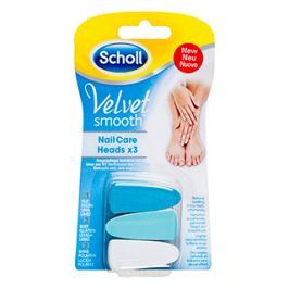 Scholl Velvet Smooth náhradní hlavice do elektrického pilníku na nehty 3 ks