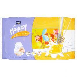 Bella Baby Happy Mléko a Med vlhčené ubrousky 64 ks