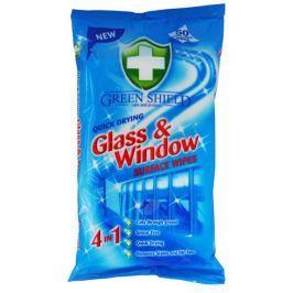 Green Shield, vlhčené ubrousky na okna a skla 50 ks/bal.