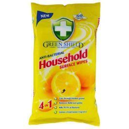 Green Shield antibakteriální ubrousky na čištění všech povrchů, citrón 50 ks/bal.