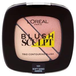L'Oréal Paris konturovací tvářenka Blush Sculpt Trio 101 Soft Sand Ambre