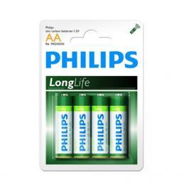 Baterie Philips LongLife AA  4 ks/bal