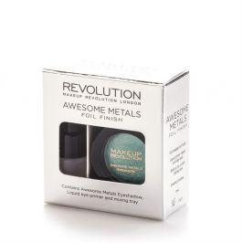 Makeup Revolution sada na tvorbu metalických stínů  Emerald Goddess