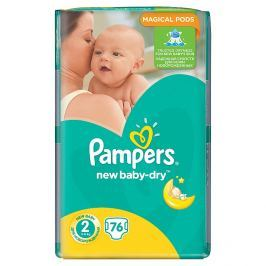 Pampers New Baby-Dry pleny 2 Mini, 3-6 kg 76 ks