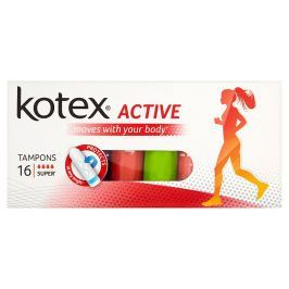 KOTEX® Active Super tampony 16 ks