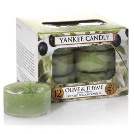 Yankee Candle čajové svíčky Olive & Thyme, 12 ks