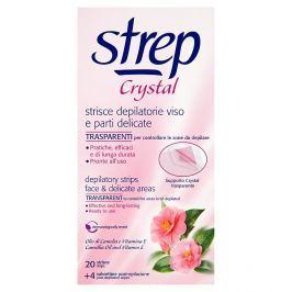 Strep Crystal depilační voskové pásky na tvář 20 ks + 4 ubrousky