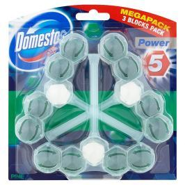 Domestos Power 5 Borovice tuhý WC blok 3 x 55 g