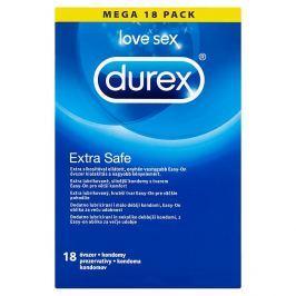 Durex Extra Safe lubrikované silnější kondomy 18 ks