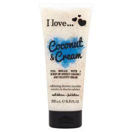 I Love Coconut & Cream přírodní sprchový peeling s vůní kokosu a sametového krému 200 ml