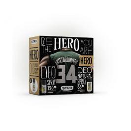 STR8 Hero dárková sada - deodorant s rozprašovačem + sprchový gel 85 ml + 250 ml