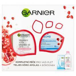 Garnier Skin Naturals micelární voda + Garnier Moisture + Aqua bomb pleťová maska dárková sada 400 ml + 1 ks