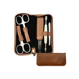 Credo Solingen Classico luxusní 5dílná manikúra v hnědém pouzdru