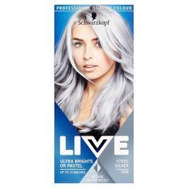 Schwarzkopf Live Ultra Bright or Pastel barva na vlasy Steel Silver 098  50 ml